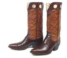 Legendary Paul Bond Crocodile Cowboy Boots Mns 10D Buckaroo Alligator Tall Heels