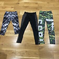 Sports Leggings Bundle Reebok Nike Pure Simple Run Size S 8-10 Gym Wear