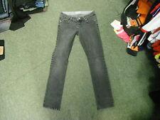 "Moto Slim Leg Jeans Waist 26"" Leg 30"" Black Faded Ladies Jeans"
