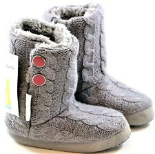 Girls Faux Fur Slipper Boots Capelli New York Small & Medium Gray & Light Gray