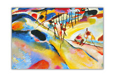 1913 Landscape By Wassily Kandinsky Abstract Poster Art Wall Decoration Pictures