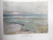 Campo de golf impresión Muirfield facsímil impresión de arte original 1910 Harry Rountree
