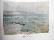 Golf Course Print MUIRFIELD Facsimile Print Of Original 1910 Harry Rountree Art