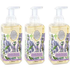 Michel Design Works Lavender Rosemary Foaming Hand Soap Set of 3 w/Eucalyptus