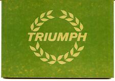 TRIUMPH POCKET HISTORY, FROSTICK, LIBRERIA AUTOMOBILIA #10, 1981 NEW BOOK /Offer
