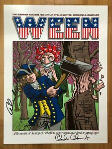 Ween 1st Bank Broomfield Denver Colorado Poster 2/12/2016 N1 Hampton Band Signed