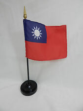 "Closeout Taiwan 4""x6"" Hand Held  or Table Top Flags International Flag - 台灣"