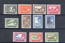 MALAYA KEDAH SG 92-102 1957 SULTAN BADLISHAH SET MNH
