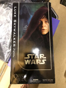 "Vintage Star Wars Luke Skywalker Figure NEW 12"" Sideshow Order of The Jedi 2005"