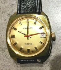 1960s WALTHAM gents gold plated wristwatch - 17 jewels INCABLOC - Swiss Made
