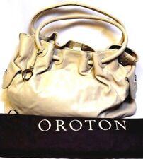 OROTON Handbag Ornament Gathered Tote quality leather Shoulder Bag rrp$695