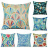 Home Decor Geometry Printing Cotton Linen Pillow Case Office Waist Cushion Cover