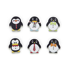 30pcs Penguin Wood Buttons Sewing Scrapbooking Gift Clothing Decor 25x24mm
