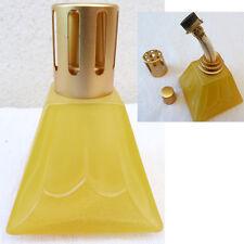 LAMPE BERGER VERITABLE CONTEMPORAINE VERRE COULEUR JAUNE FORME GEOMETRIQUE