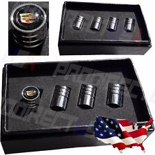 Cadillac Logo Valves Stems Caps Covers Chromed Metal Tire Car Wheel Emblem *USA*