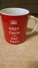 Keep Calm And Eat Cake Dessert Sweets Lover Funny Ceramic Red Coffee Mug