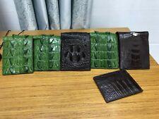 Genuine Real Alligator Crocodile Leather Skin Men's Bifold Wallet GREEN Color
