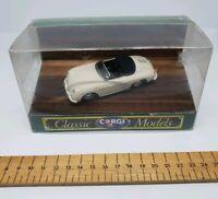 1989 CORGI CLASSICS - PORSCHE 356B - WHITE  43 SCALE MODEL CAR D742/1 rare