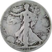1918 S Liberty Walking Half Dollar VG Very Good 90% Silver 50c US Coin