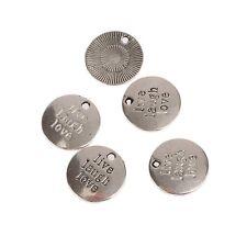 10pc Tibetan Silver Bead charms Pendants Live Laugh Love For DIY bracelet 2x2CM