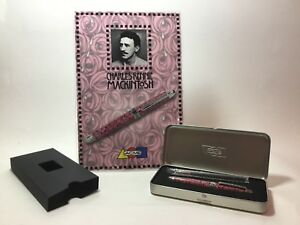 """ACME """"Roses"""" Roller Ball Pen by Charles Rennie Mackintosh w/ Easel REFURBISHED"""