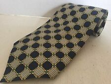 Paolo Gucci Hand Stitched Geometric Houndstooth Silk Tie Made In Italy
