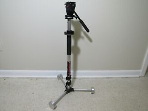 STEDDIEPOD Camera Stand with Manfrotto 700RC2 Video Fluid Head FREE SHIPPING
