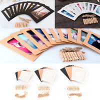 10 set diy wall picture paper photo hanging frame album rope clip decoration  O