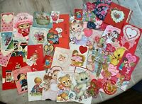 36 Vintage Valentines Greeting Cards.- Ephemera- Junk Journals