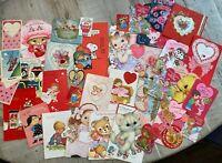 36 Vintage Valentines Greeting Cards.- Ephemera- Junk Journals