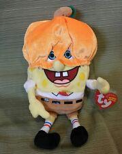 "TY Beanie Baby - SpongeBob Pumpkinmask (9 1/2"") 2004 Retired NEW"