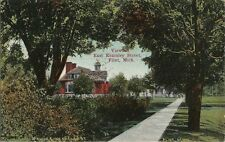 Old Postcard - View of East Kearsley Street - Flint MI