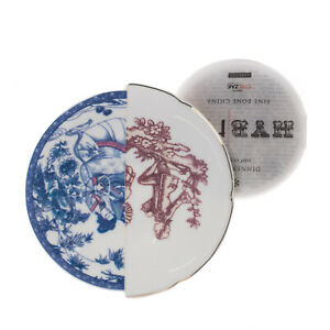 SELETTI Hybrid Collection Eufemia Porcelain Saucer Western & Eastern Design