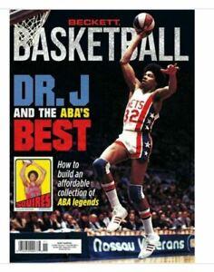 New November 2021 Beckett Basketball Card Price Guide Magazine W/ Julius Erving