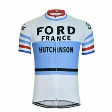 Retro 1965 Ford France Cycling Jersey mens Cycling Short Sleeve Jersey
