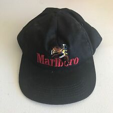 Vintage 90s MARLBORO CIGARETTES Cowboy Rodeo Rider Snapback Baseball HAT DAD CAP