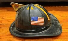 Vintage CAIRNS 900 Fiberglass Firemans Helmet Hat FD Rescue Safety Equipment.