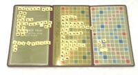Travel Scrabble Crossword Game Rare Edition Selchow & Righter 1948