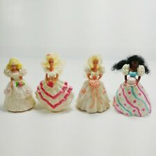 Lot of 4 Vintage McDonalds Barbie Happy Meal Toys 1990s Plastic Toy Dolls 90s