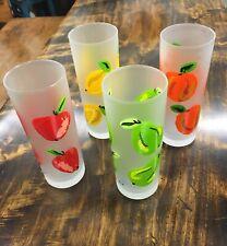 "Dartington Designs Highball Tumblers Drinking Glasses 7"" Set of 4 Fruit FRANCE"