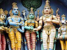 Divinités hindou Tamil Nadu en Inde statue dieux photo Art Imprimé Poster bmp2249a