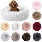 Warm Pet Dog Cat Calming Beds Comfy Round Fluffy Bed Nest Mattress Donut Pad