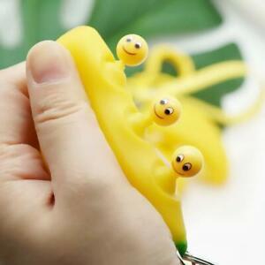 CUTE Banana Fidget Stress Toy Keyring Anti Anxiety Stress Relief Tool Kids adult
