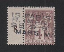 Préoblitéré timbre de France N° 2, 4 c Sage gomme charnière