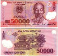 Banknote- Vietnam 2003-19, 50000 Dong, P121 UNC, Ho Chi Minh(F)Buildings in Hua
