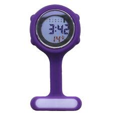 Digital Multi Function Purple Nurses/Brooch/Tunic/Fob/Pocket/ Silicone Watch