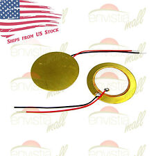 "2-pack 27mm Piezoelectric Disk Element Piezo Sound Sensor Pickups with 2"" Wires"