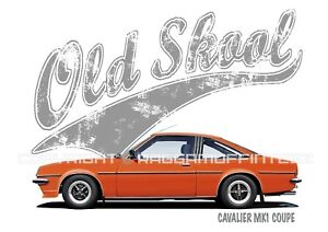 """Vauxhall Firenza Droopsnoot t-shirt /""""Rusty Nuts Garage Services/"""" t-shirt"""