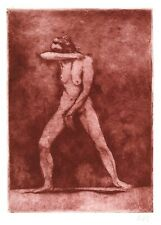 Superbe estampe originale moderne art contemporain femme tirage sanguine femme