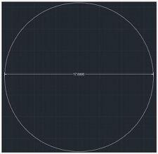 "1pc Acrylic Plastic (plexiglass) Round Sheet - 1/4"" x 17"" Circle - Clear"